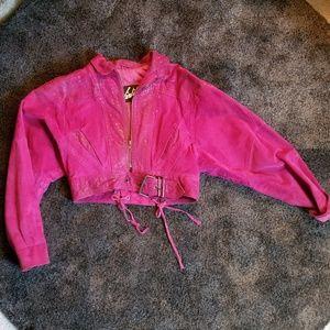 Jackets & Blazers - Pink cropped jacket